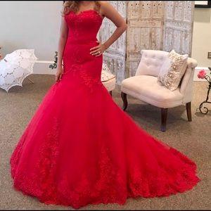 Red Engagement/prom/wedding dress